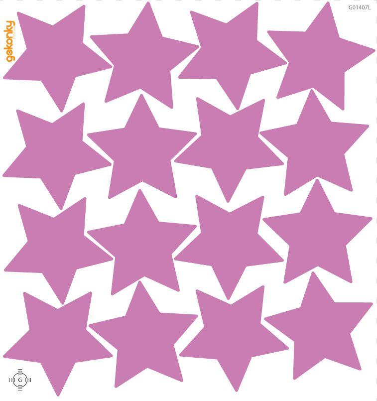 Hvězdy světle fialové