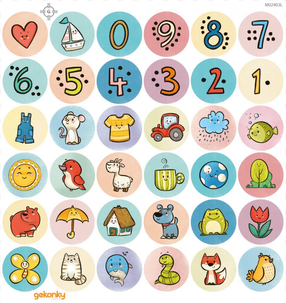 Veselé puntíky: Barvy a čísla