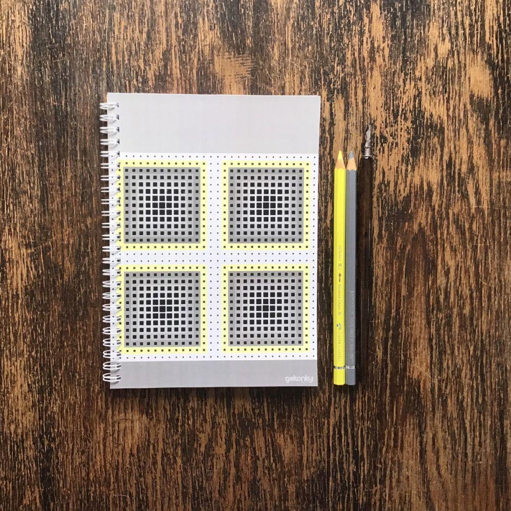 OP-ART, kroužkový zápisník A5