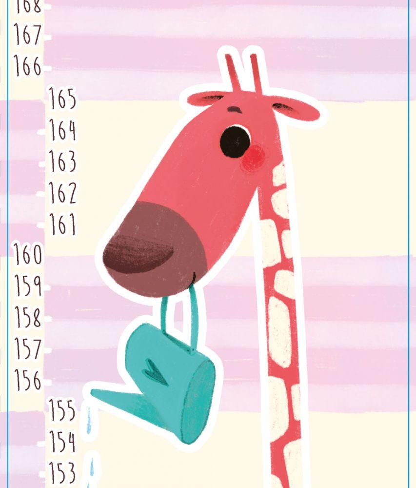 Samolepící nástěnný metr: Žirafa Agáta