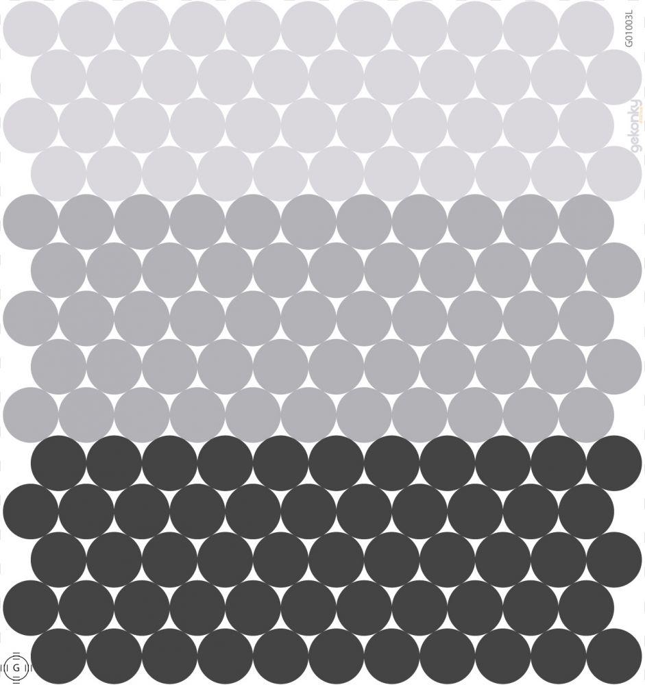 154 puntíků – elegantní černá a šedá
