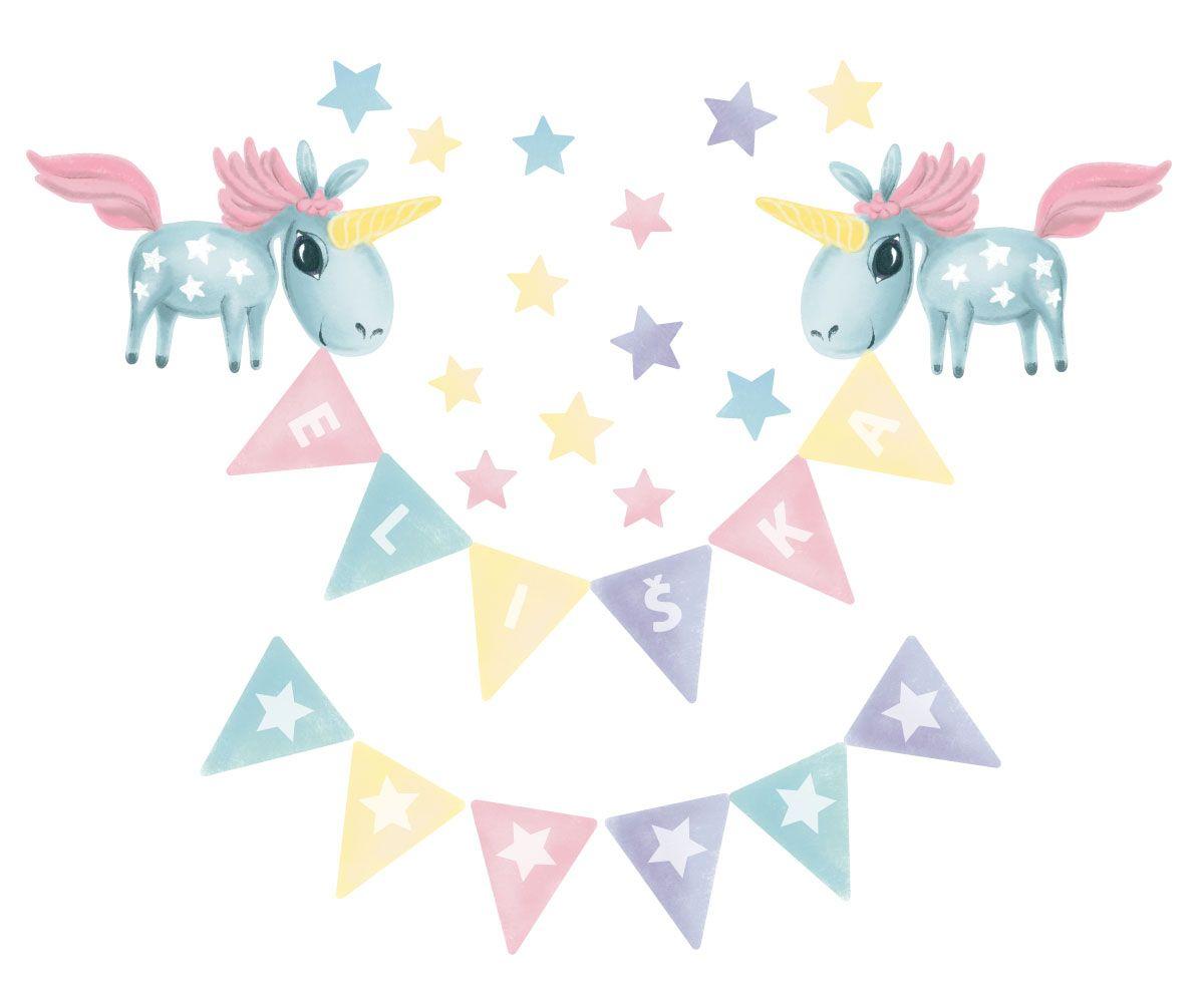 Jednorožci pro miminko: Jméno na přání