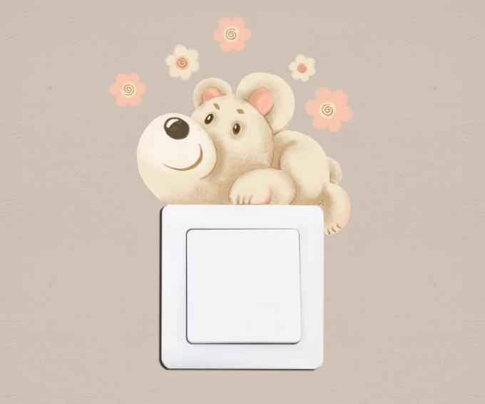 Medvídek k vypínači