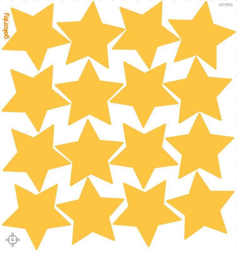 Hvězdy pomerančově žluté