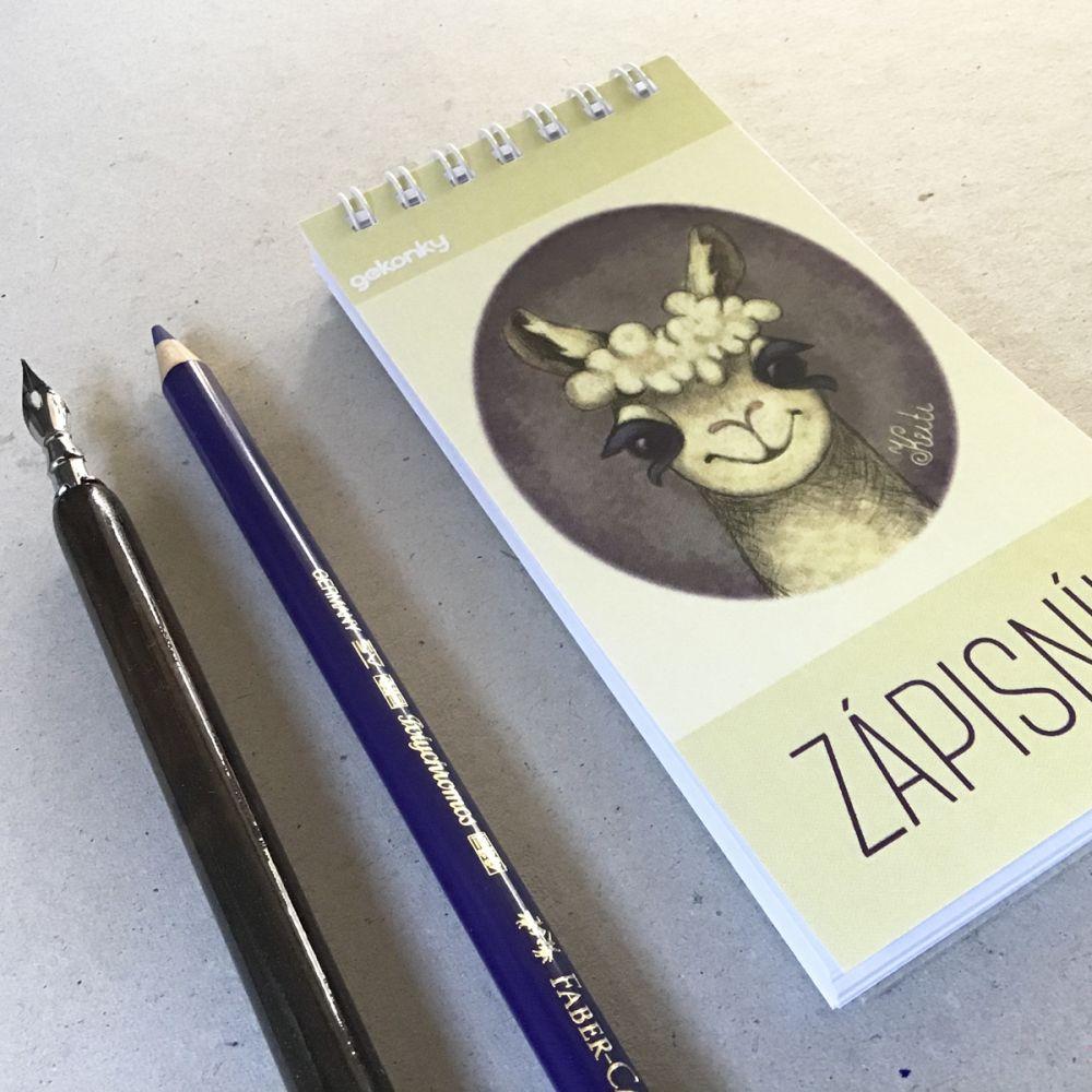 Lama, kreativní bloček do ruky