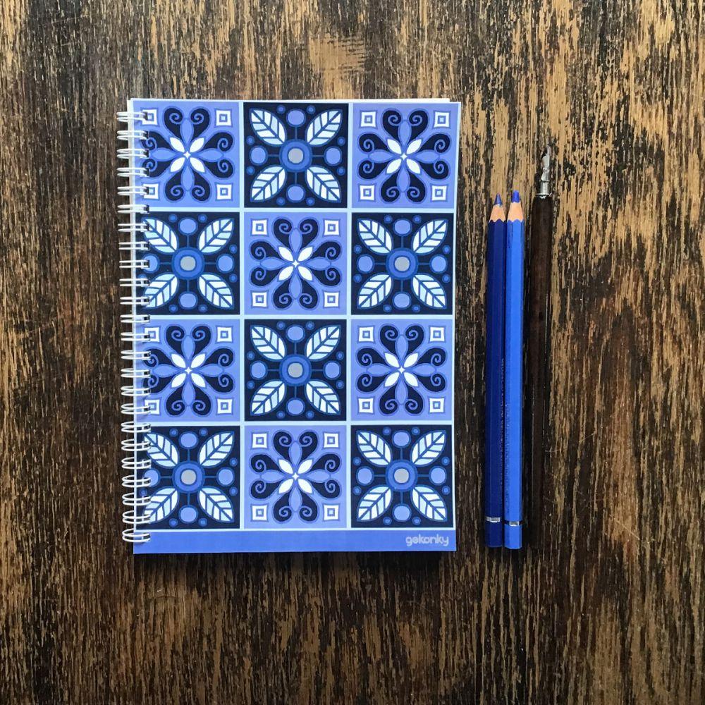 Rex blue, kroužkový zápisník A5