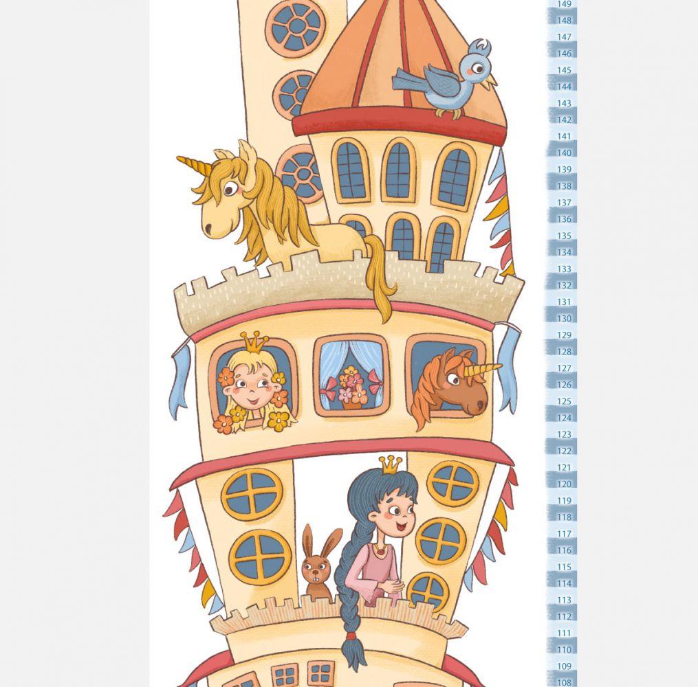 Samolepící nástěnný metr: Zámek s princeznami